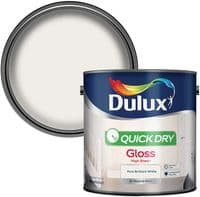 Dulux Quick Dry Gloss Paint For Wood And Metal - Pure Brilliant White 2.5 Litres